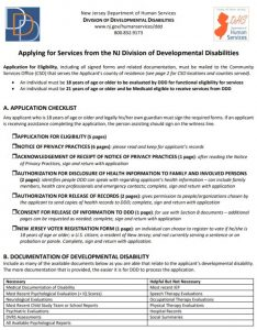DDD Application for Eligibility