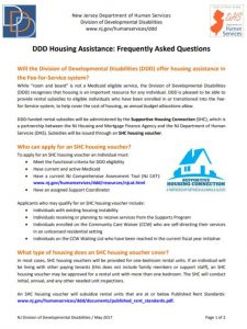 DDD Housing Assistance FAQ