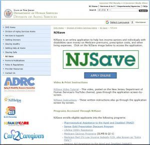 State of New Jersey Department of Human Services Division of Aging Services